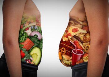 Die Menschen in Deutschland essen zwar mehr Gemüse und weniger Schweinefleisch, dennoch hat das Problem mit Übergewicht kaum abgenommen. (Bild: freshidea/stock.adobe.com)