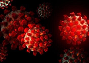 Grafik des Coronavirus.