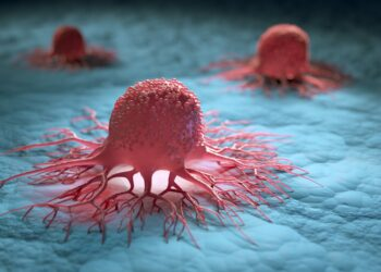 3D-Illustration von Krebszellen