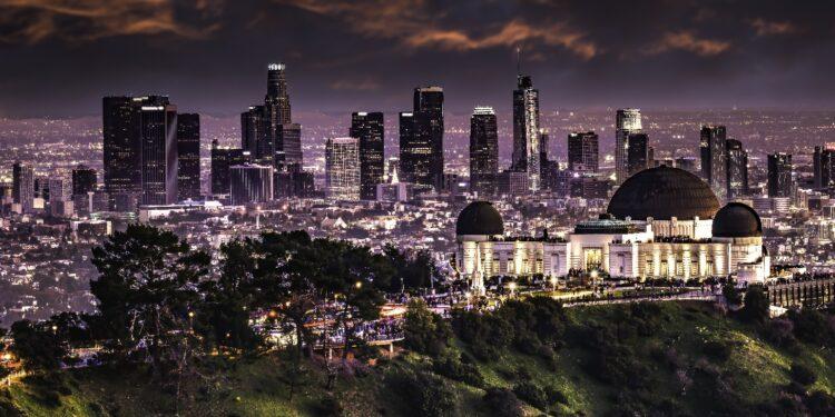 Los Angeles bei Nacht.