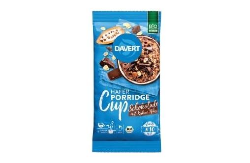 Produktabbildung: DAVERT Porridge-Cup Schokolade mit Kakao Nibs.