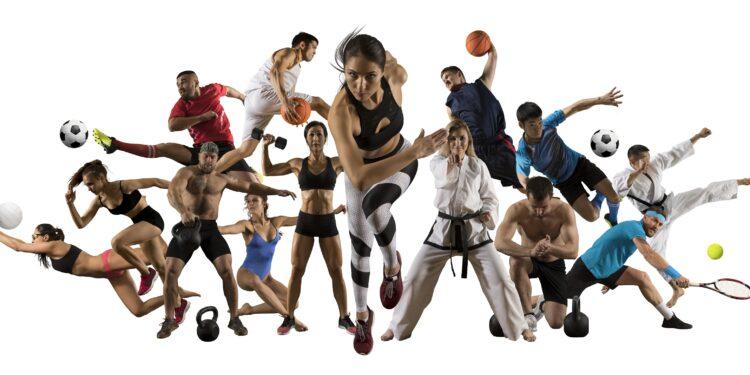 Personen führen unterschiedliche Sportarten durch.