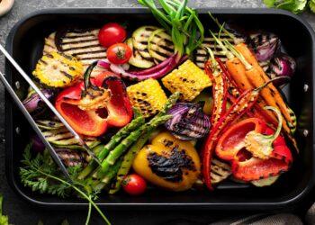 Vegetarisch belegter Grill
