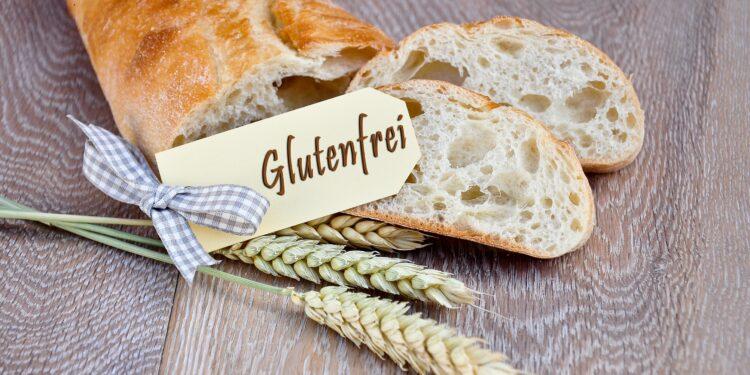 Brot mit einem Schild mit der Aufschrift Glutenfrei