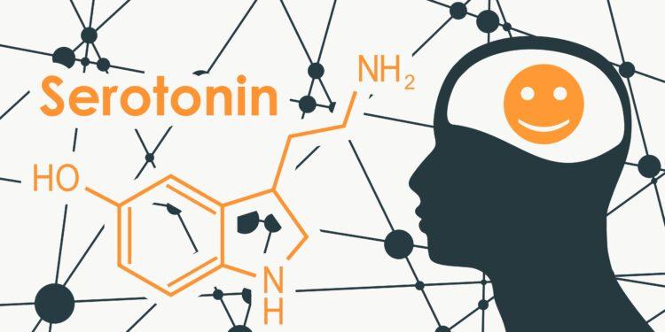 Die chemische Formel von Serotonin.