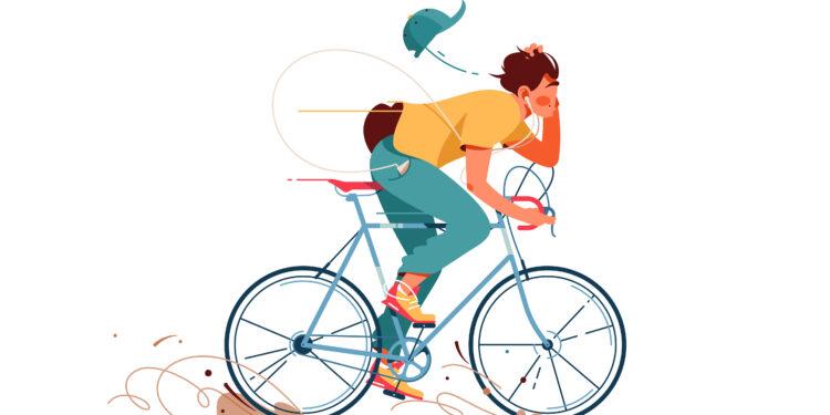 Grafik eines Radfahrers.