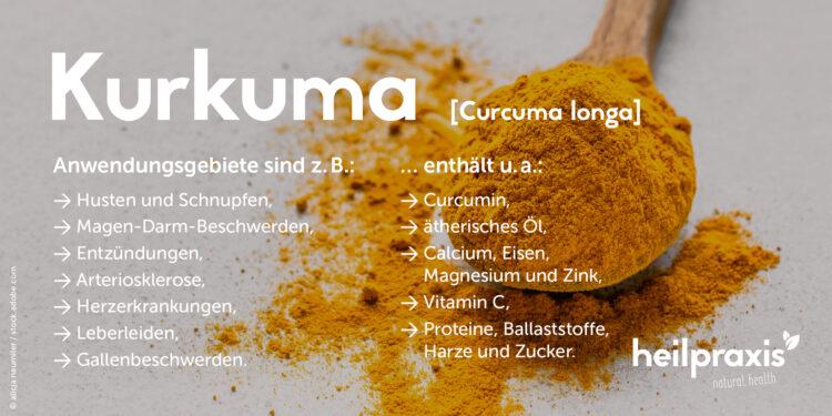 Übersicht über Inhaltsstoffe und Anwendungsgebiete von Kurkuma
